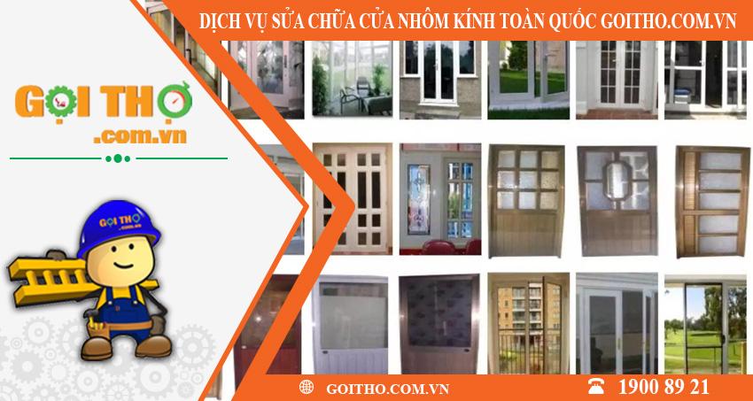 Dịch vụ sửa chữa cửa nhôm kính toàn quốc tại GOITHO.COM.VN