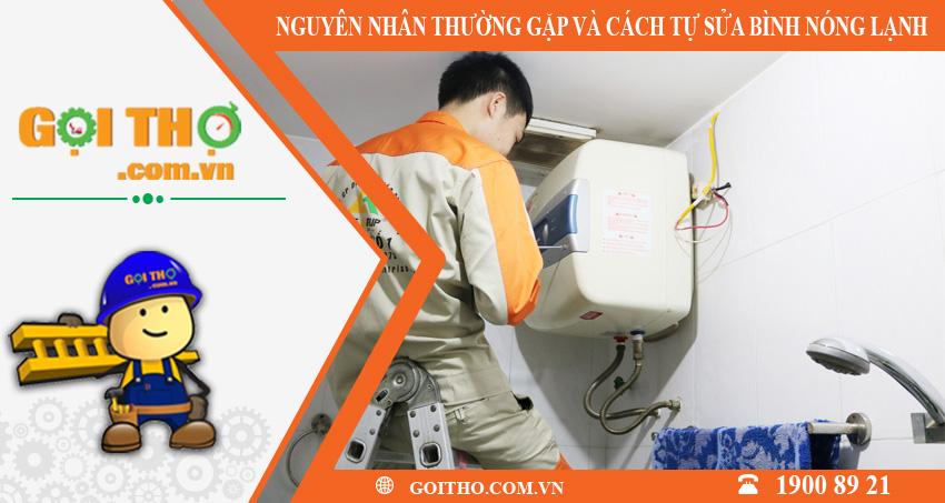 Nguyên nhân thường gặp và cách tự sửa chữa bình nóng lạnh
