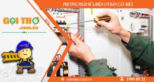 Những phương pháp sửa điện cần biết